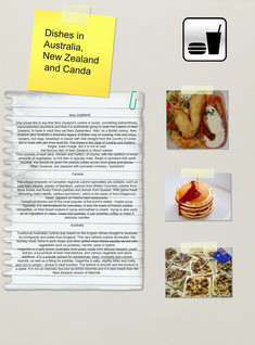 Dishes in Australia, New Zealand and Canda