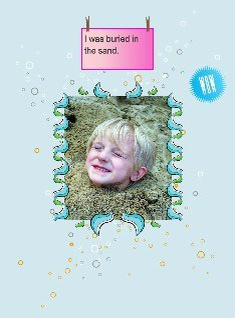 Boy in the sand