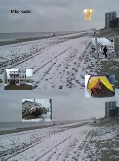 Cherry Grove Beach With Snow