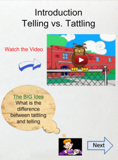 Telling vs. Tattling: 1