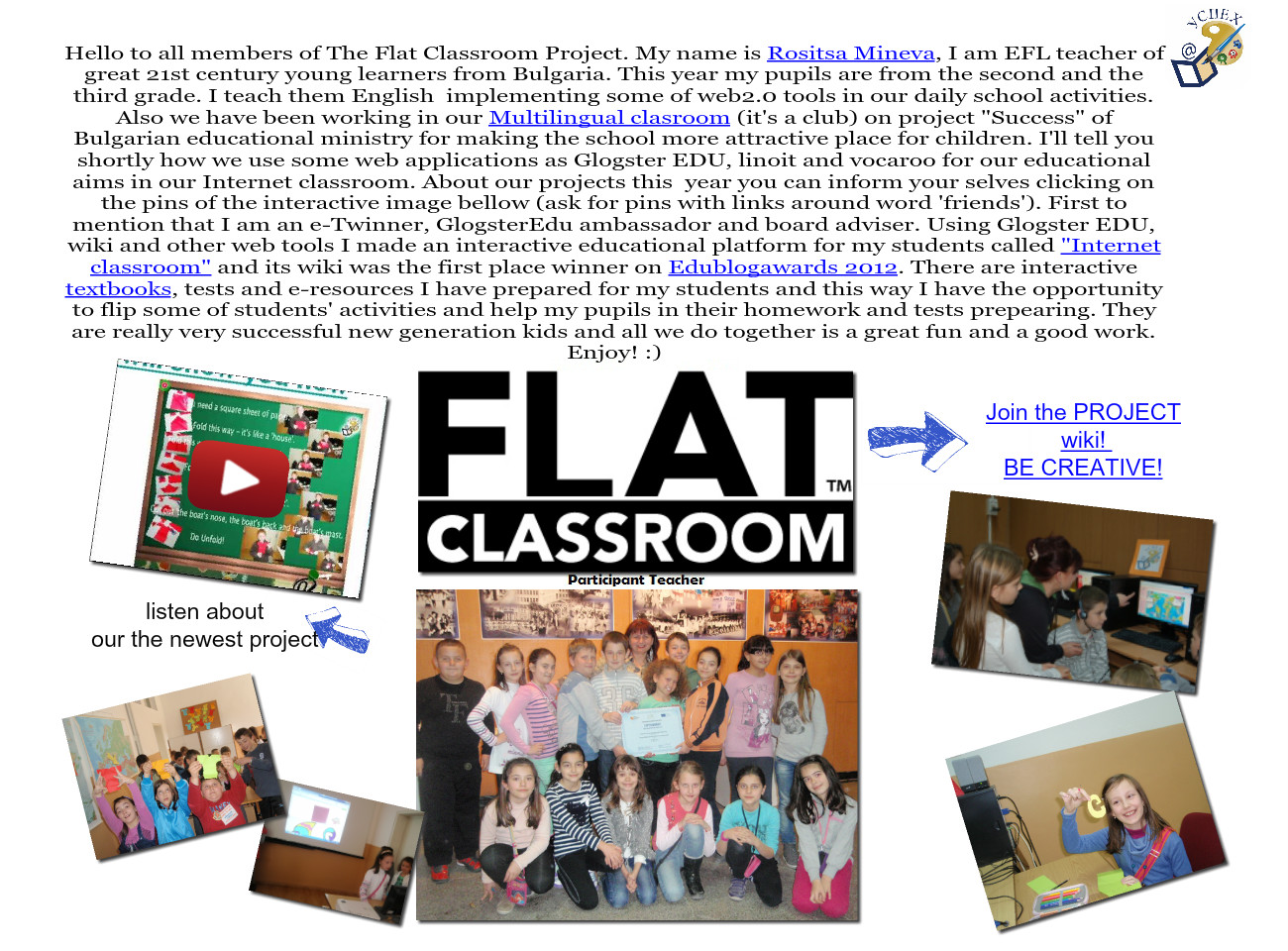 For the Flat Classroom project