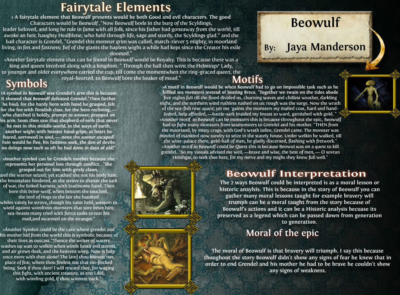 Beowulf Arts Beowulf Book Eng English Language Report Tp