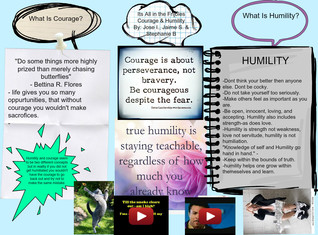 What is courage and humility