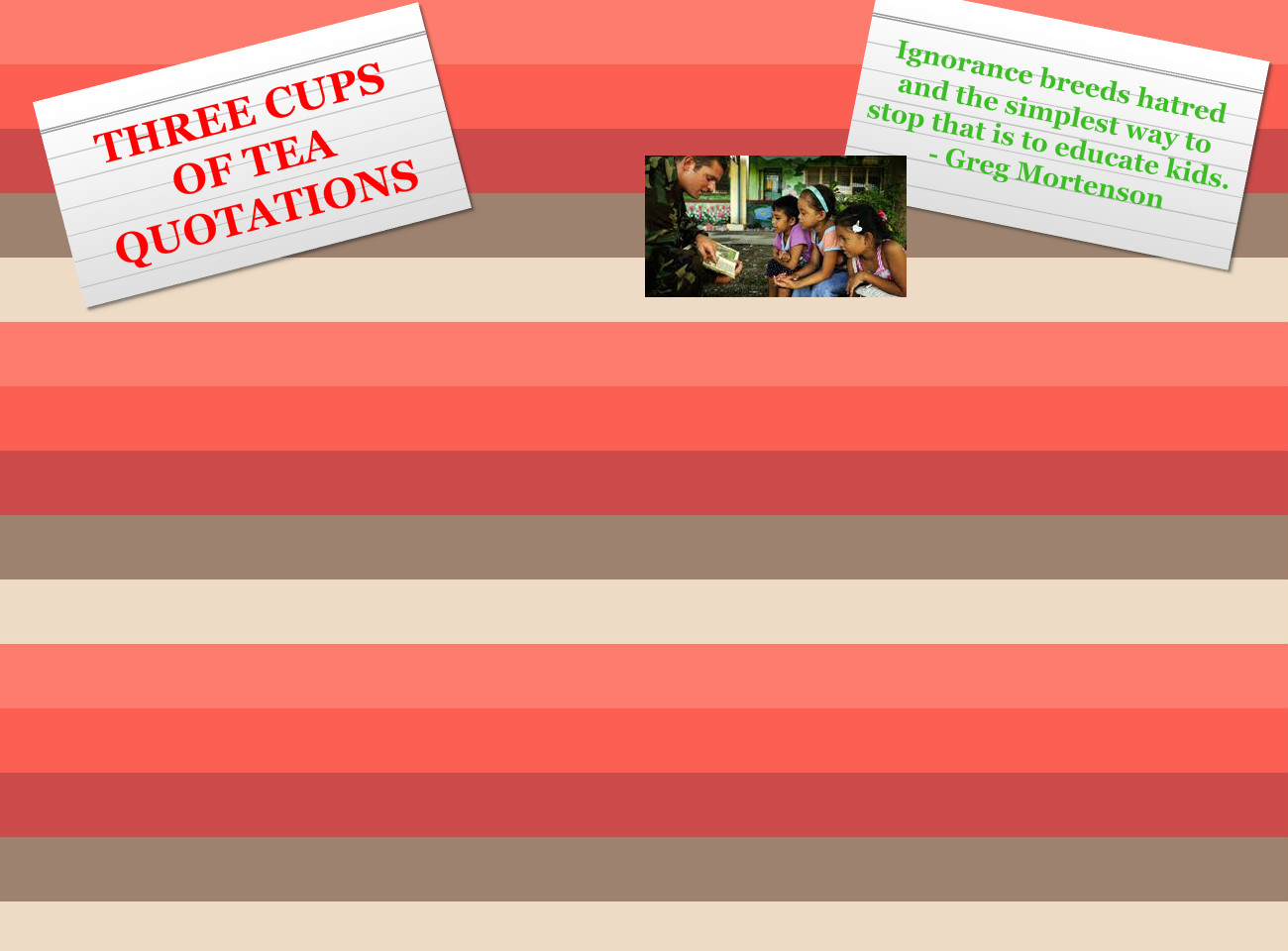 Three Cups of Tea Example