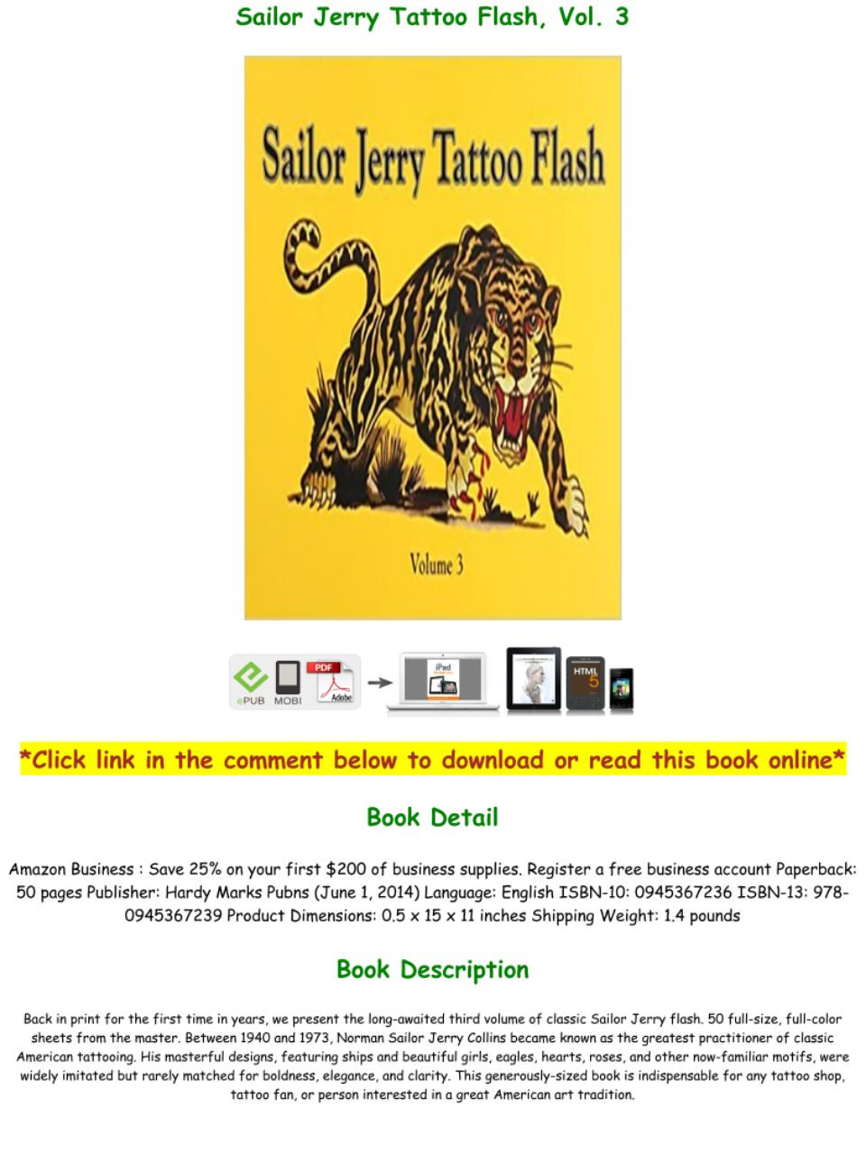 Download Pdf Sailor Jerry Tattoo Flash Vol 3 Full Pages Text Images Music Video Glogster Edu Interactive Multimedia Posters