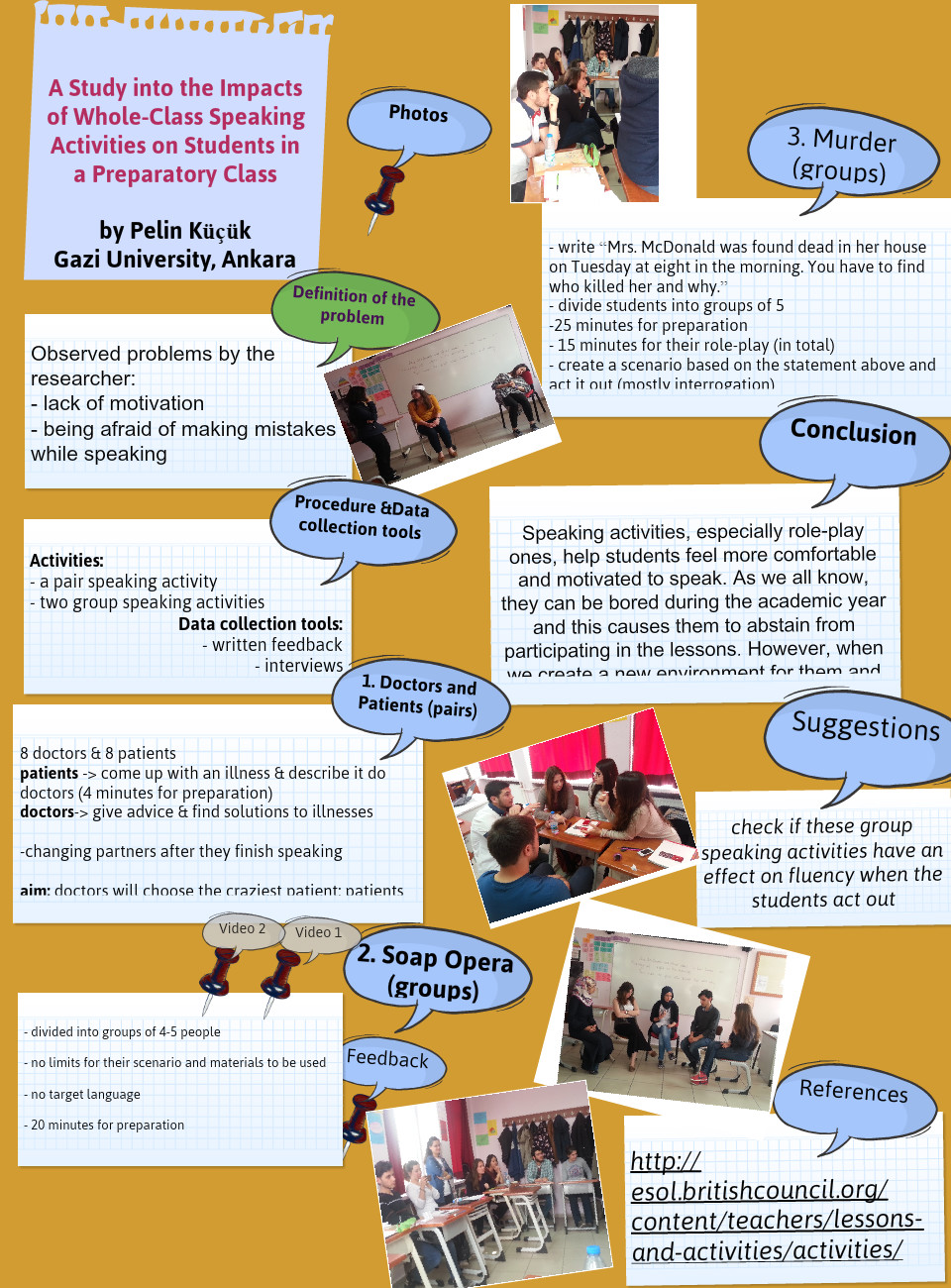 A Study into the Impacts of Whole-Class Speaking Activities