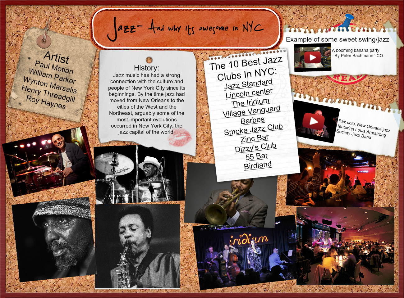 Jazz- and why its awesome in NYC