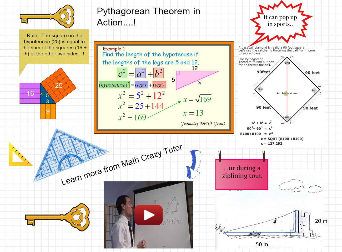 Pythagorean Theorem in Action