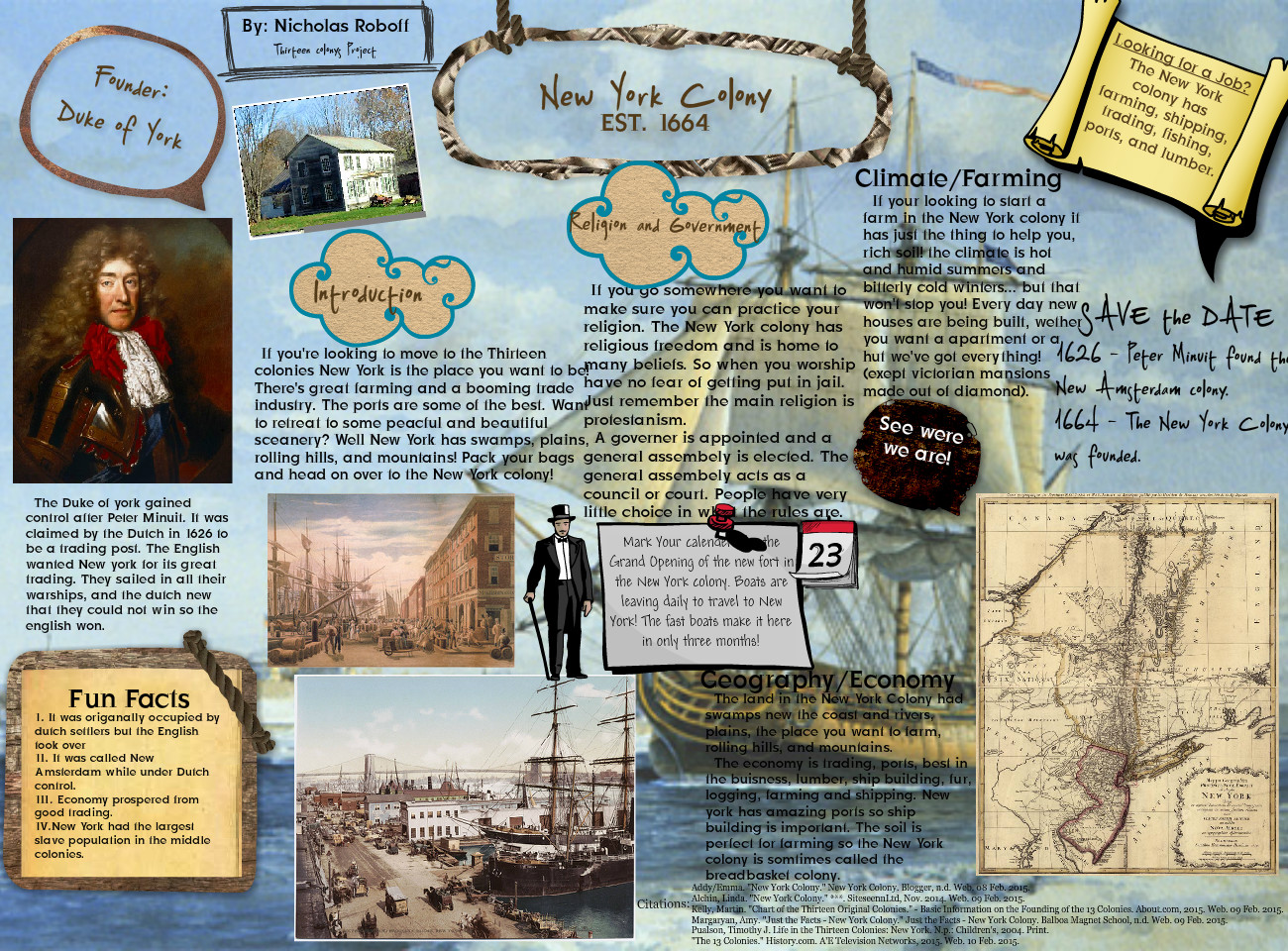 facts about the middle colonies economy