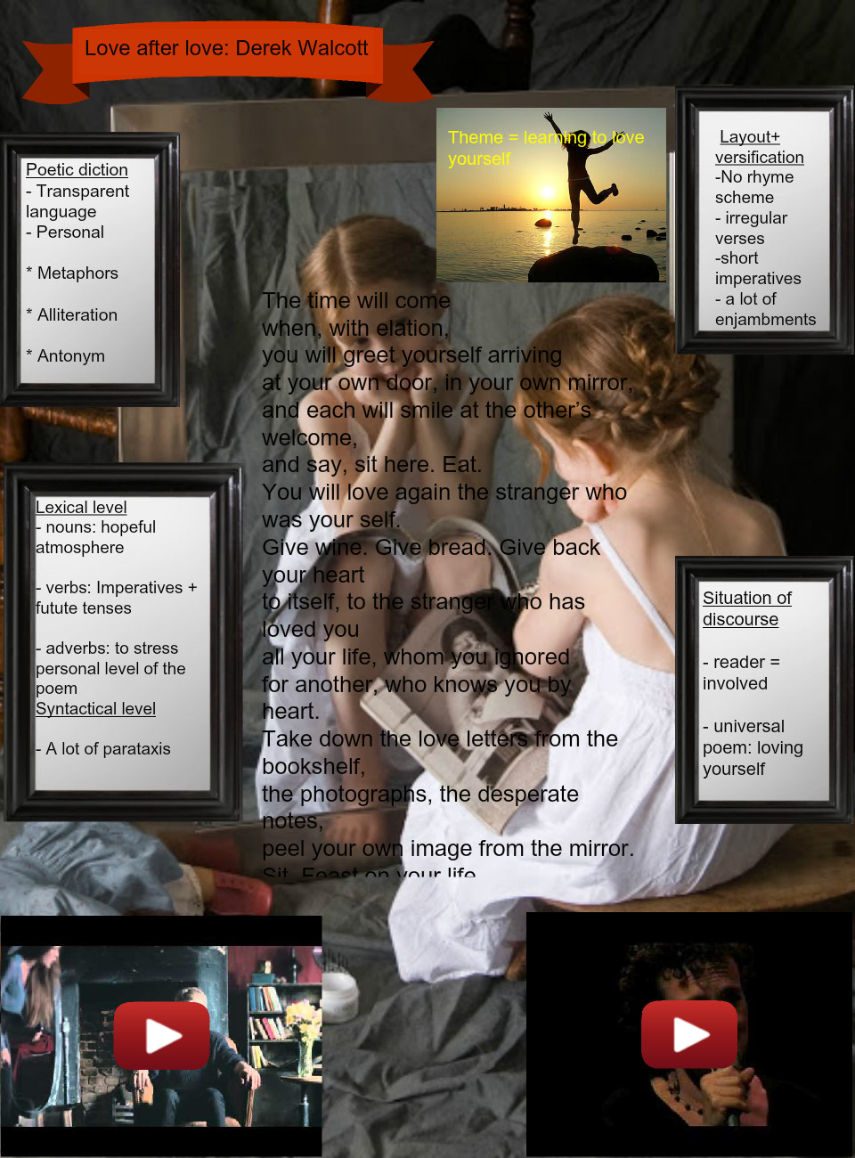 Love after Love: text, images, music, video | Glogster EDU