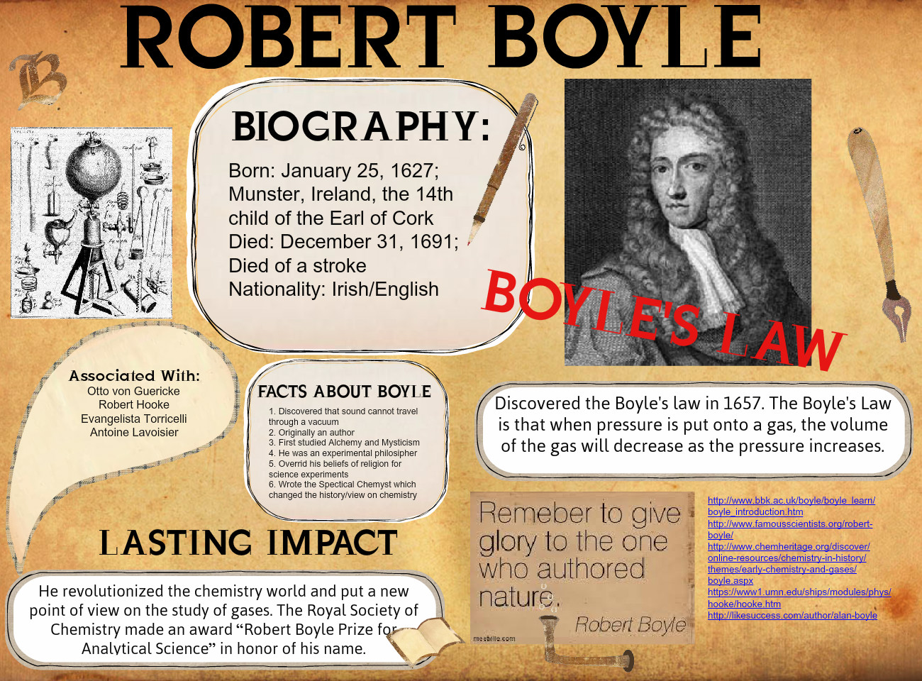 Prizes and awards for robert boyle