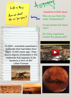 Life On Mars, (Assignments), Planet and Astronomy