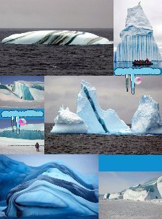candy striped icebergs