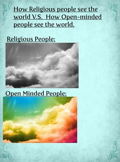 How Religious People see the world v.s. How Open-Minded people see the world