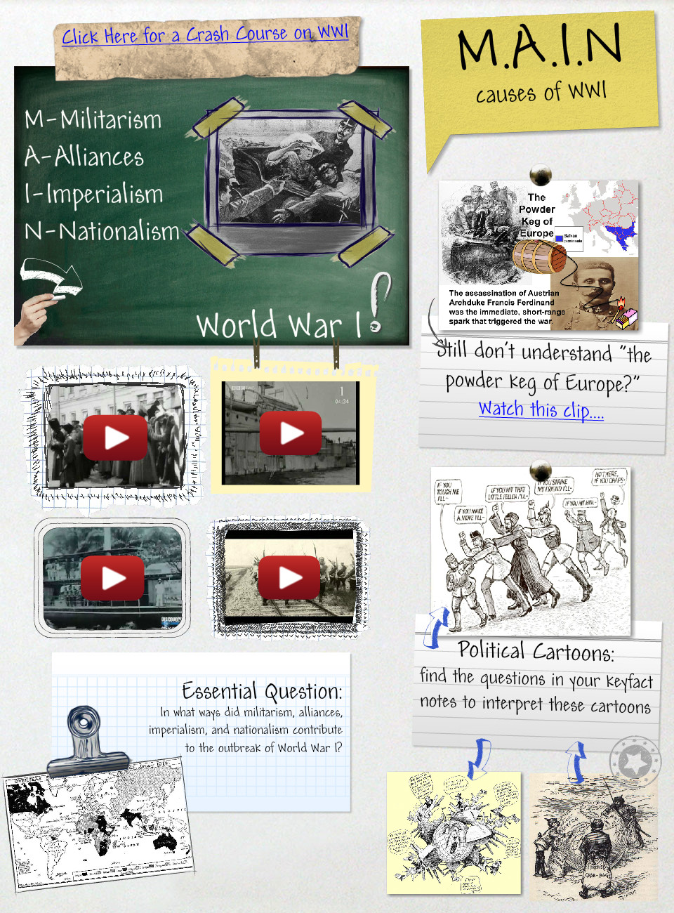 Main Causes of World War I: en, history, militarism ...