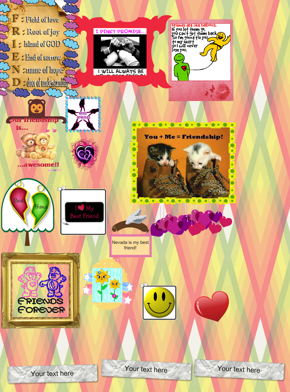 FRIENDSHIP By: Audrie
