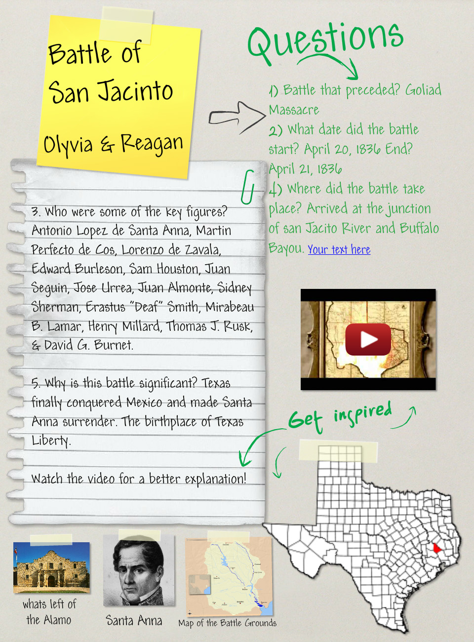 Battle of San Jacinto, (Assignment), History