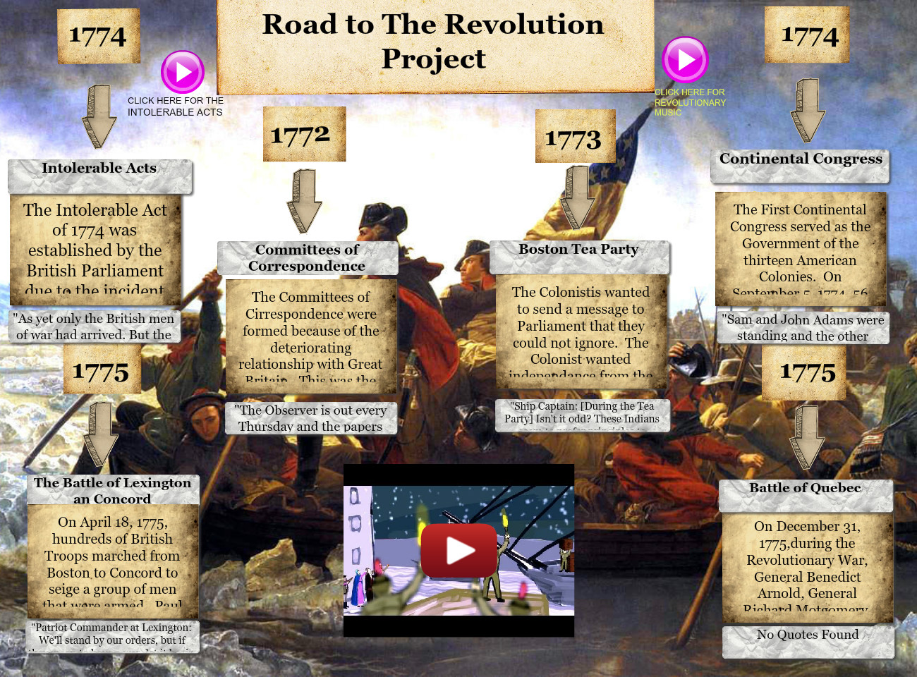Road to the Revolution Project