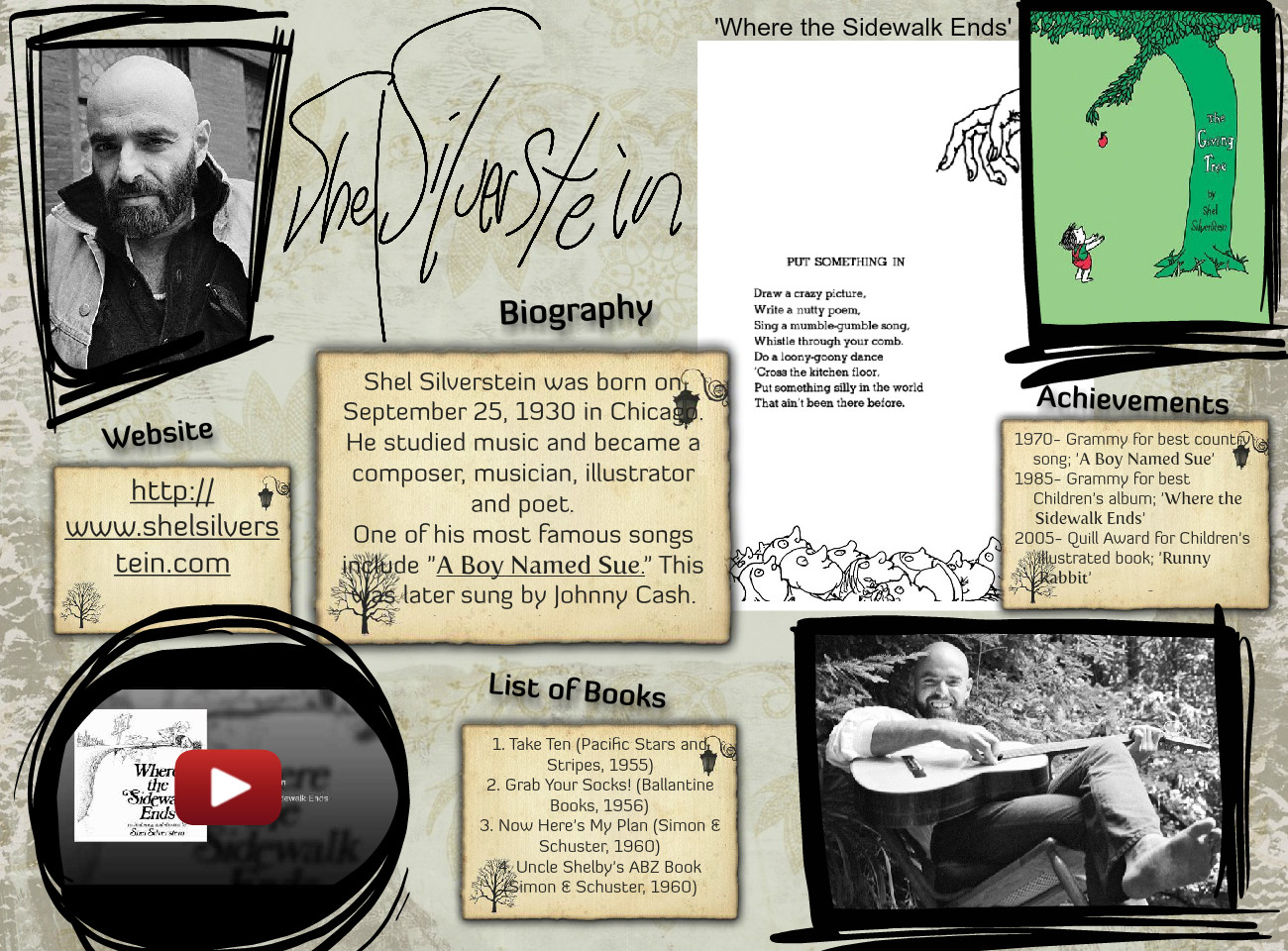 Shel Silverstein Biography: Shel Silverstein Biography: Text, Images, Music, Video